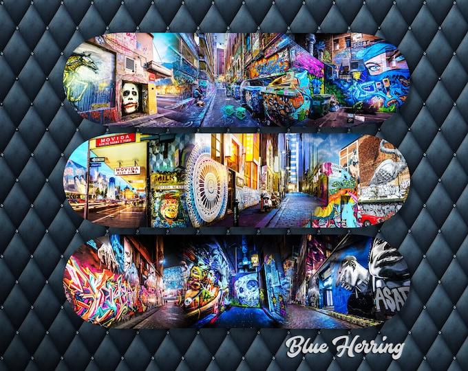 Featured listing image: Skateboard Wall Art, Set of Three, Deck Decor, Graffiti Gifts, Street Art Photography, Melbourne Print, Teen Room Decor, Boyfriend Gift idea