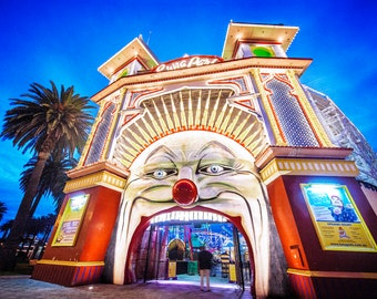 St Kilda Print, Luna Park, Melbourne Australia, St.Kilda Beach Decor, Travel Gift, Photography Prints, Nursery Wall Art, Amusement Park