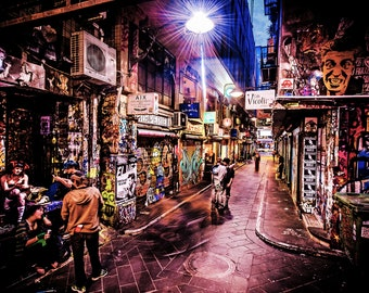 Graffiti Photography, Melbourne Print, Street Art Photo, apartment gift, spray paint art, urban photography, Boyfriend Gift, Draves Street