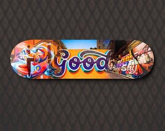 Street Art Skateboard Deck Wall Art, Graffiti pop art, Melbourne Photograph Print, teen boy gift, teenage girl room decor, travel wall art