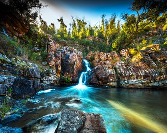 Waterfall Photography, Australia wall art, National Park Poster, Grampians Art, Nature Prints, Travel Photo on Canvas, Birthday Gift for him