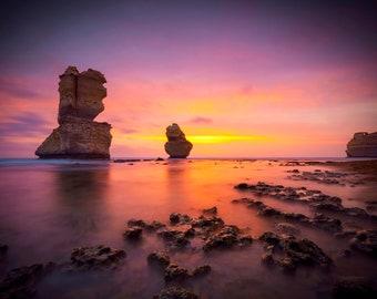 Great Ocean Road Print, Twelve Apostles, Australian Made, Extra Large Wall Art, National Park Poster, April Birthday Gift, Sunset Photograph