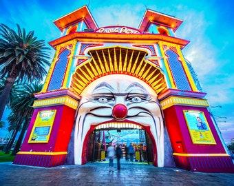 St Kilda Print, Luna Park, Melbourne Australia, St.Kilda Beach Decor, Travel Gift, Photography Prints, Nursery Wall Art, Amusement Park