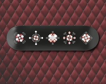Latvia wall art, Skateboard Deck Art Decor, Latvian Symbols, Pagan Gifts, Viking Decor, teen bedroom, boyfriend gift, Scandinavian Christmas