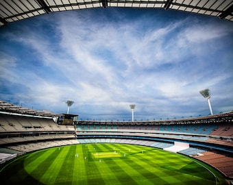 Melbourne Cricket Ground, MCG Photograph, Australian footy photo, Sports Wall Art, Melbourne Print, AFL, Aussie Rules, Birthday Gift for Him