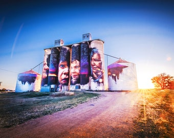 Graffiti Wall Art, Spray Paint Art, Street Art, Silo Art Print, Melbourne Photography, Country Sunset, Christmas gift for teen, unique gift