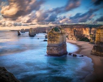 Great Ocean Road Art, Twelve Apostles, Panoramic Wall art, National Park Prints, Australia Photography, Travel Decor, Zoom Background, gift