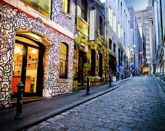 Graffiti Wall Art, Street Art print, Melbourne Photograph, Hosier Lane Photo, urban poster, Australia Travel Art, Girlfriend Gift, housewarm
