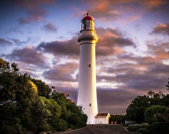 Great Ocean Road, Australian Photography, Light House Decor, Twelve Apostles, Sea Coast Photo, Beach Wall Print, Australia Nature Wall Art
