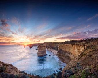 Great Ocean Road Print, Twelve Apostles, Seascape Decor, Extra large wall art, Melbourne Victoria, Australia Photo, shipwreck beach, gift