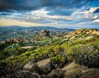 Panorama Photography, Large Panoramic, Rustic Decor, Landscape Photo, Mount Buffalo, Australia Photo, Scenic Nature Print, Forest Wall Art