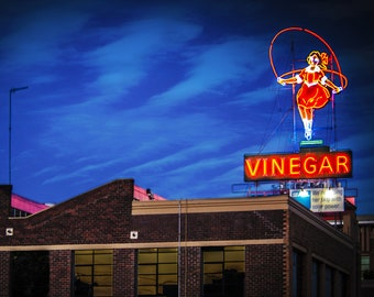 Skipping Girl, Melbourne Photograph, Little Audrey Print, Melbourne Icon, Skipping Vinegar Girl Sign, Famous Signs, Australian Poster Photo