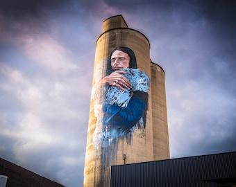 Graffiti Wall Art, Street Art, Silo Art Print, Wall Art, Melbourne Photography, Colour Street, Jacinda Ardern mural, Conversation Starter