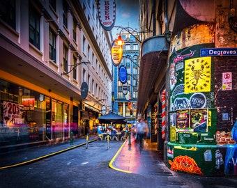 Graffiti Art, Street Art Print, Melbourne Photograph, Degraves Street, Fathersday Gift, Urban Wall Art, laneway photo, Birthday Gift for Him