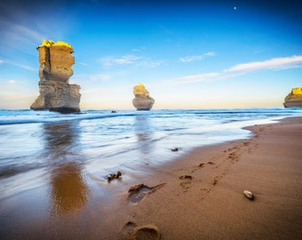 Great Ocean Road, Twelve Apostles, Australia Poster, Panoramic Photo, Gibson Steps, National Park Prints, Coastal wall decor, Travel Gift