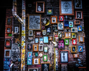 Street Art Photography, Melbourne Print, Graffiti Photography, Zoom Office Background, Pesgrave Place, Frames for pictures on wall, gift for