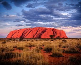 Uluru Print, Ayers Rock, Aboriginal Art, Australia Travel Poster, National Park Prints, Photography Gifts, landscape wall decor, Australian