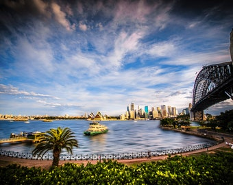 Sydney Print, Sydney Harbour Bridge, Opera House, Zoom background, Australia Poster, Photography Prints, office wall art, Travel birthday