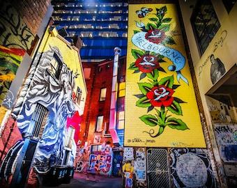 Graffiti Wall Art, Street Art Graffiti, Gift for Boyfriend, Melbourne Photograph, Fine art prints, canvas wall art, lounge decor, travel art