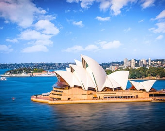Sydney Opera House, Sydney Harbour Print, Aerial Photography, Zoom Background, Australia Poster, Wall Art, Travel Decor, Birthday Gift for