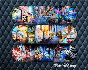 Skateboard Wall Art, Set of Three, Deck Decor, Graffiti Gifts, Street Art Photography, Melbourne Print, Teen Room Decor, Boyfriend Gift idea