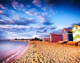 Beach Hut, Beach Print, Brighton Beach hut, Melbourne Photography, Childrens decor, beach cottage decor, Coastal decor, Australia made