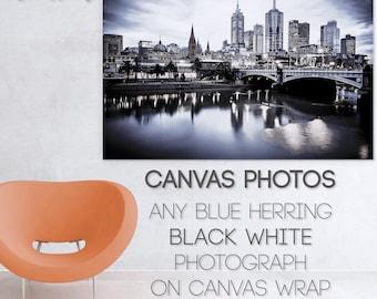 Canvas Photo, black and white, Melbourne Print, custom size, Graffiti Street Art, Wall Art Canvas, Photography gifts, 12 Apostles, Brighton