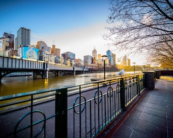 Melbourne Photograph, city wall art, Flinders Street Station, Australia Poster, Photography Print, Lounge decor, wedding gift ideas
