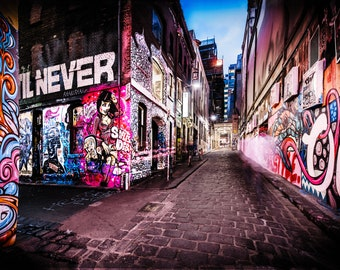 Street Art Graffiti, Graffiti Wall Art, girlfriend gift, Melbourne Australia, photography prints, pink decor, apartment gift, Large wall art