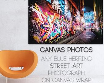 Custom Canvas, Graffiti Canvas Wall Art, Street Art Photography, personlized gift, Photo Print, Melbourne Brighton Beach, Twelve Apostles