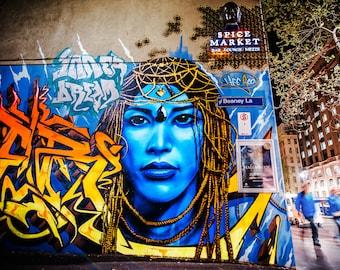 Melbourne Graffiti, Melbourne Print, Color Street, Street Art Poster, Australia Gift, photography backdrop, spray paint, boyfriend gift for