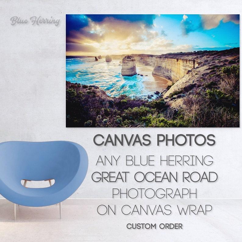 Custom Canvas Twelve Apostles Print Street Art Photograph image 1
