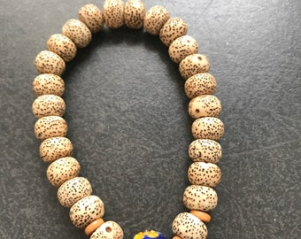 6-7x9mm 29 inch #W23 Star Moon Bodhi Seed Beads Natural Color Rondelle Shape Hole 2mm Size Approx