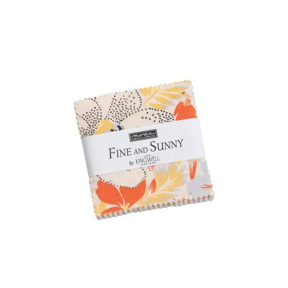 Fine and Sunny, Precuts, Mini Charm Pack, By Jen Kingwell, 18170MC Moda Precuts