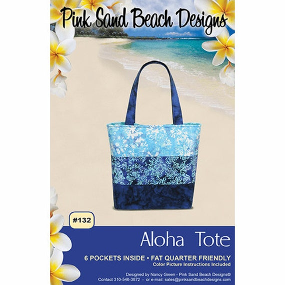 Aloha Tote Pattern, By Pink Sands Designs