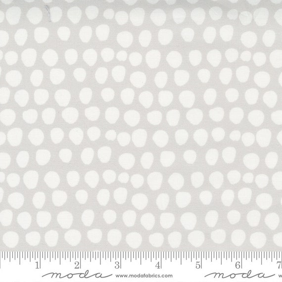 Little Ducklings, in Warm Grey and White dots, 25107 14 Moda, By Paper And Cloth, Sold by the 1/2 yard or the yard