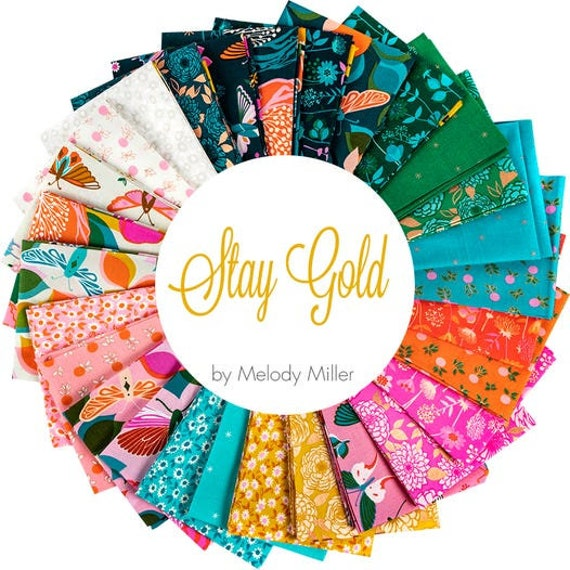 Stay Gold Precuts, by Melody Miller for Ruby Star/Moda