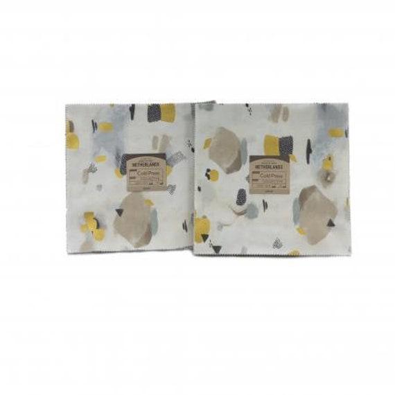 Cold Press - Precuts- 10X10 Pack- Cotton and Steel/RJR- CS201P-10X10