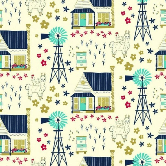 Windham - Homestead Life - Homestead Vignette - Cream- Sold by the 1/2 yard or the yard