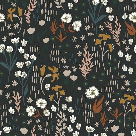 Dear Isla - Meadow - Twilight Cotton Fabric- HJ201-TW1- Cotton and Steel/RJR- sold by the 1/2 yard or the yard cut continuous