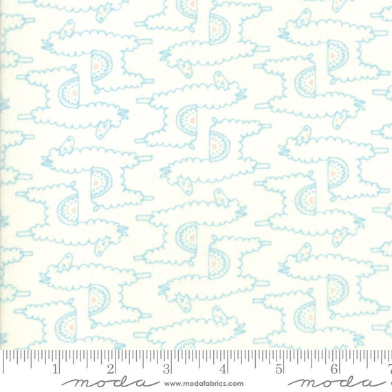 Soft & Sweet Flannel Fabric - Blue Llama Love Flannel Fabric - Stacy Iest Hsu - Moda Fabric - Llama Fabric, sold by the 1/2 yard