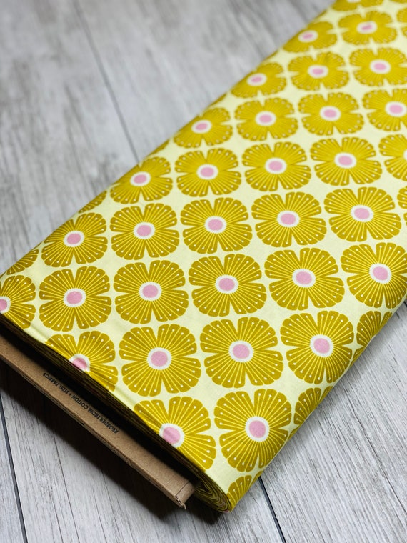 On a Spring Day - Blossom - Wildflowers Fabric-LV402-WI3- Cotton and Steel/RJR- Sold by the 1/2 yard or the yard