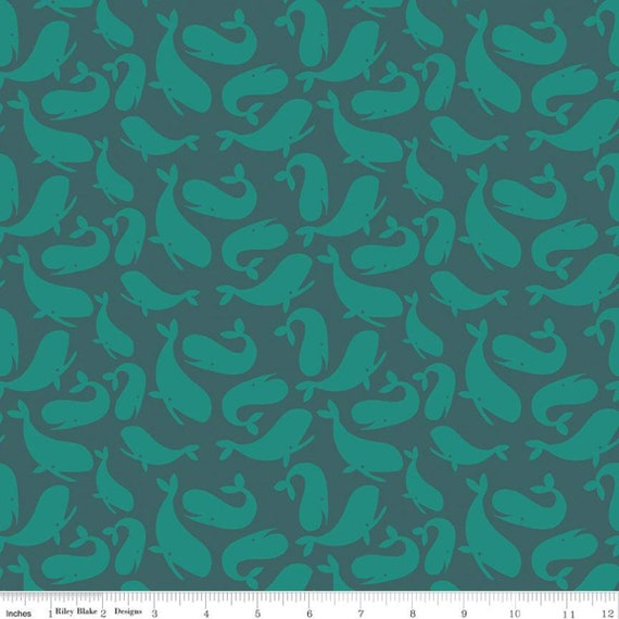 Ahoy! Mermaids, Whales, Ocean, By Melissa Mortenson For Riley Blake Designs, Sold by the 1/2 yard or the yard