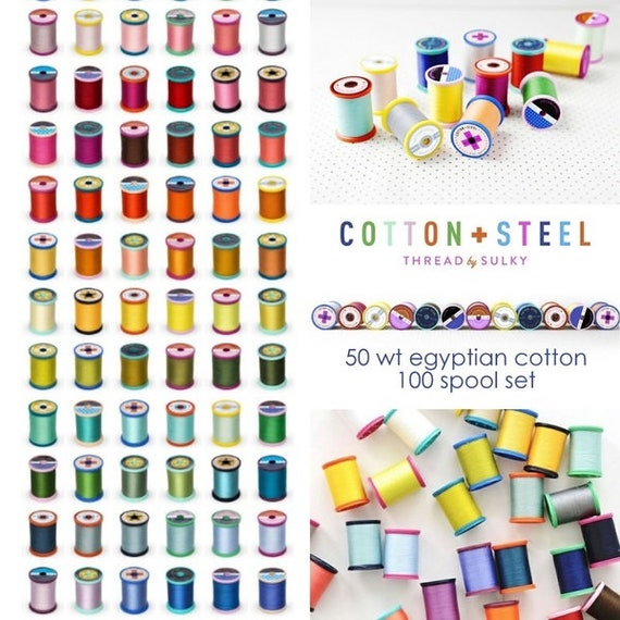 Cotton + Steel- 50 weight Cotton Thread by Sulky