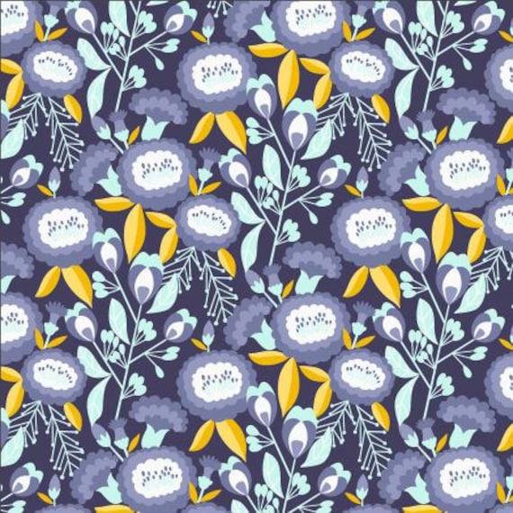 Glory - Isla - Deep Purple Fabric- MC200-DP1- Cotton + Steel- Sold by the 1/2 yard or the yard