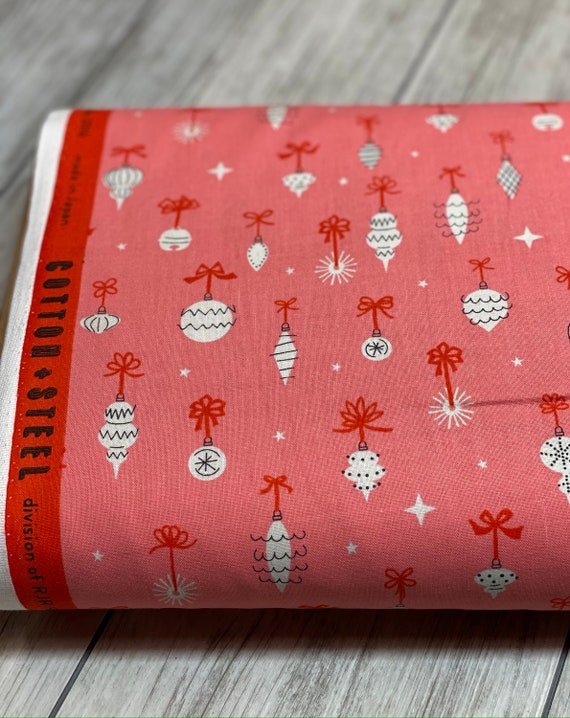 Garland - Ornamentals - Cotton Candy Fabric-C5073-001- Cotton and Steel- RJR- Sold by the 1/2 yard or the yard
