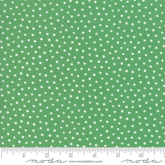 Snow Day Snow Dots Kelly Green  By Stacy Lest Hsu 20637 17 Moda, sold by the 1/2 Yard - Cut Continuously
