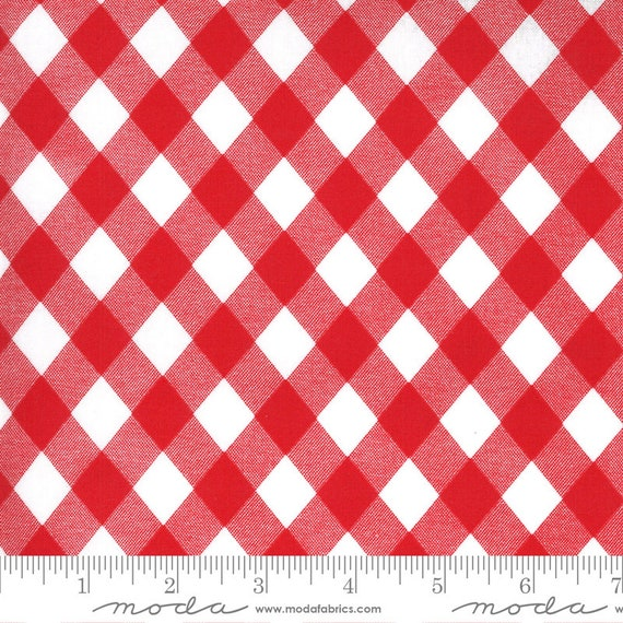 Sunday Stroll, red and white, ROT Coated (laminated cotton fabirc), by Bonnie & Camille, 55227 12C, Moda, sold by the yard