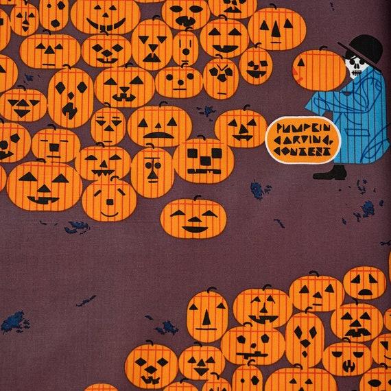Charley Harper for Birch Organic Fabrics, Halloween, Jack-O-Lantern, sold by the 1/2 yard or the yard