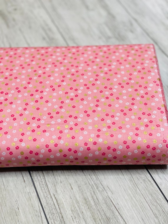 Ahoy! Mermaids Floral Pink,  C10346-PINK, by Melissa Mortenson for Riley Blake Designs, Sold by the 1/2 yard or the yard